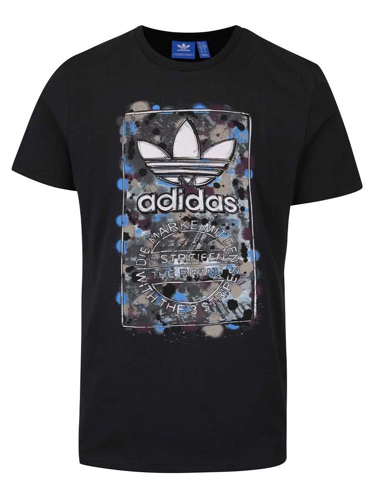 75bf11967 Černé pánské triko s barevným potiskem adidas Originals | ZOOT.cz