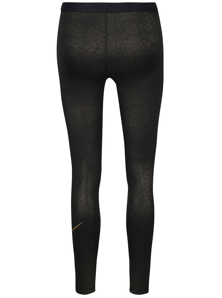 ... Dámské legíny ve zlato-černé barvě Nike Pro Cool Tight b4fba348e1