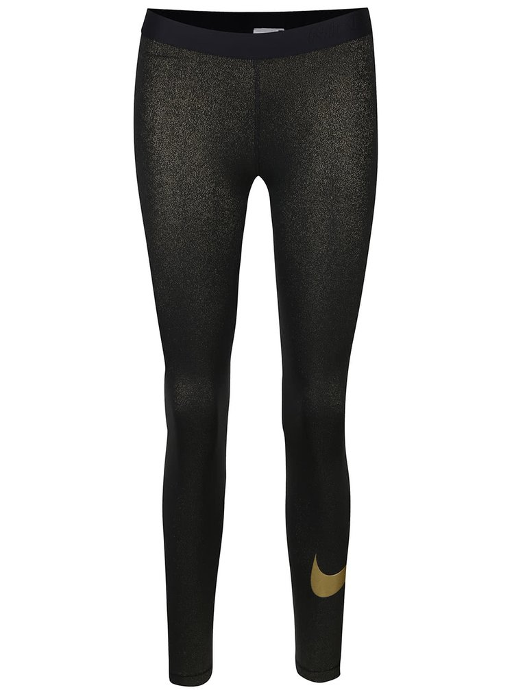 Dámské legíny ve zlato-černé barvě Nike Pro Cool Tight