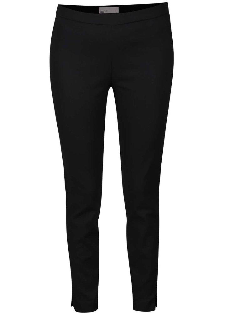 Černé zkrácené kalhoty VERO MODA Ida