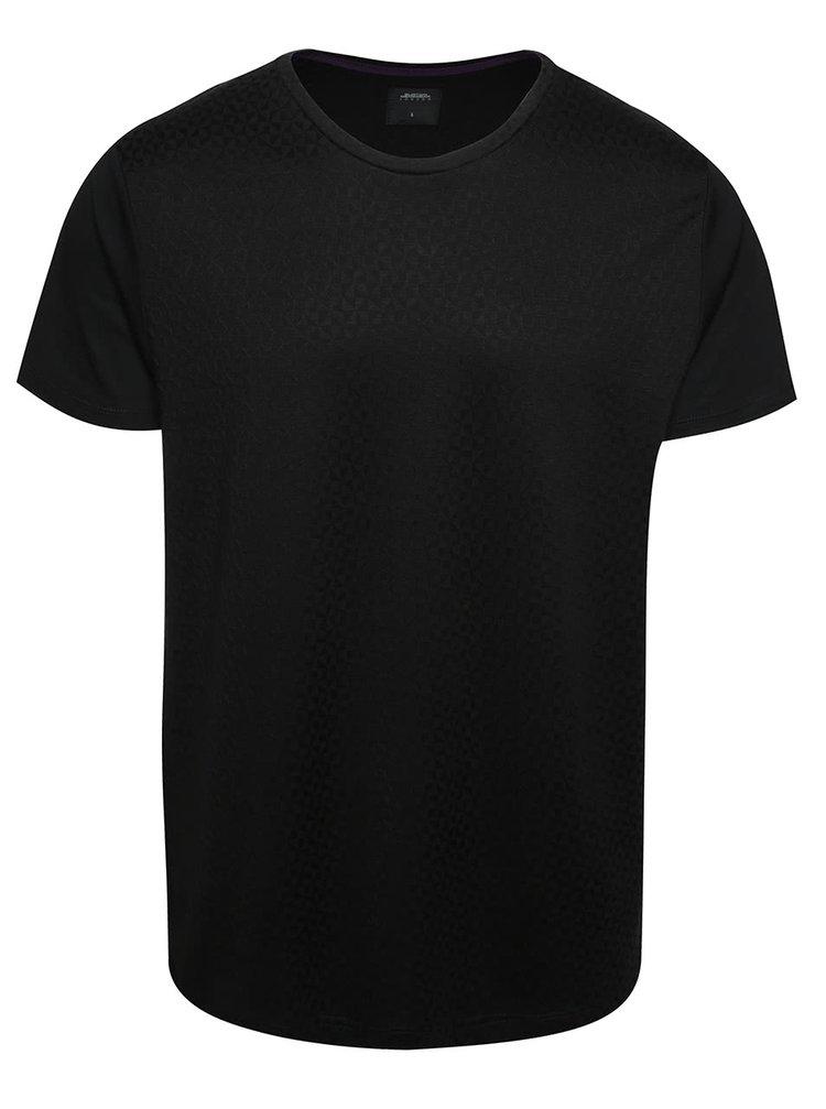 Tricou negru Burton Menswear London cu model discret