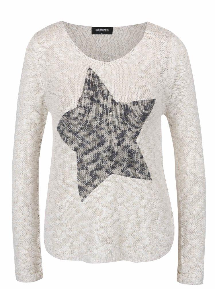 Krémový svetr s motivem hvězdy Haily´s Star