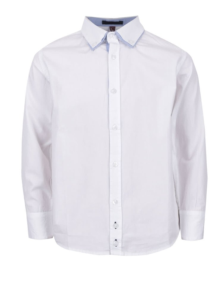 Bílá klučičí košile s dvojitým límečkem 5.10.15.