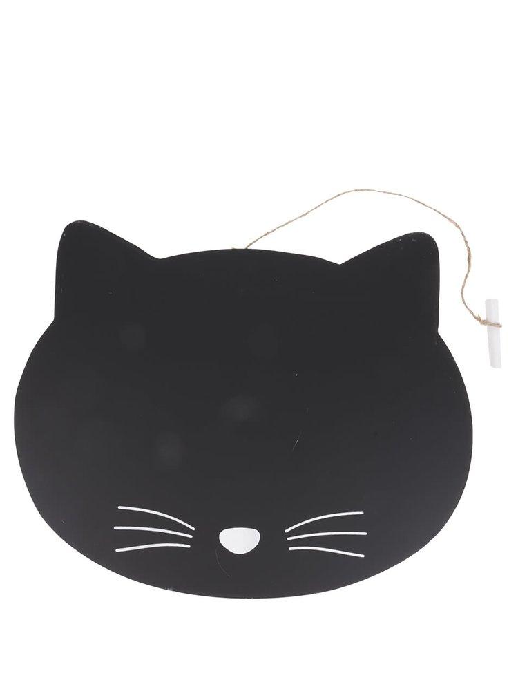 Černá tabule ve tvaru kočičí hlavy Sass & Belle