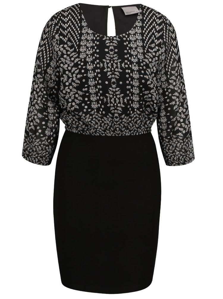 Rochie neagră cu imprimeu VERO MODA Joleyn