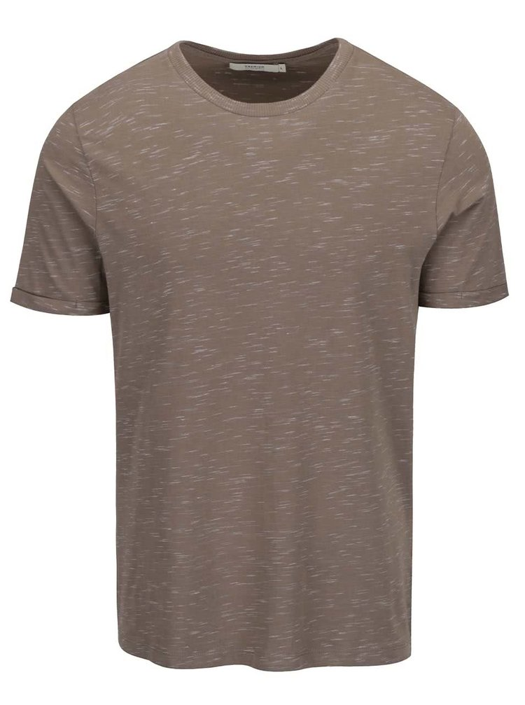 Béžové žíhané triko Jack & Jones Tom
