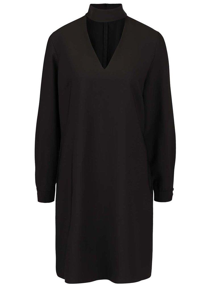 Černé volné šaty se stojáčkem Closet