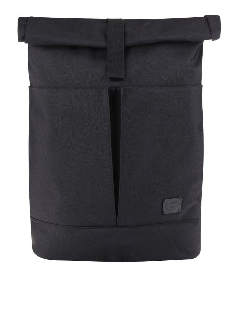 Černý unisex batoh s klopou Spiral Detroit 15 l