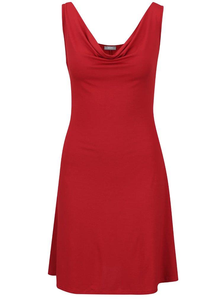 Červené šaty s prověšeným výstřihem ZOOT
