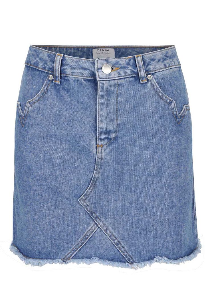 Modrá džínová sukně Miss Selfridge