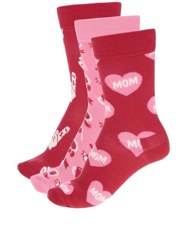 Sada tří párů dámských ponožek  Happy Socks Mother's Day Gift Box