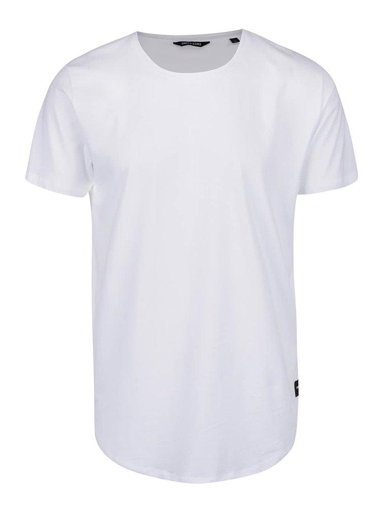 Tricou alb ONLY & SONS Matt din bumbac
