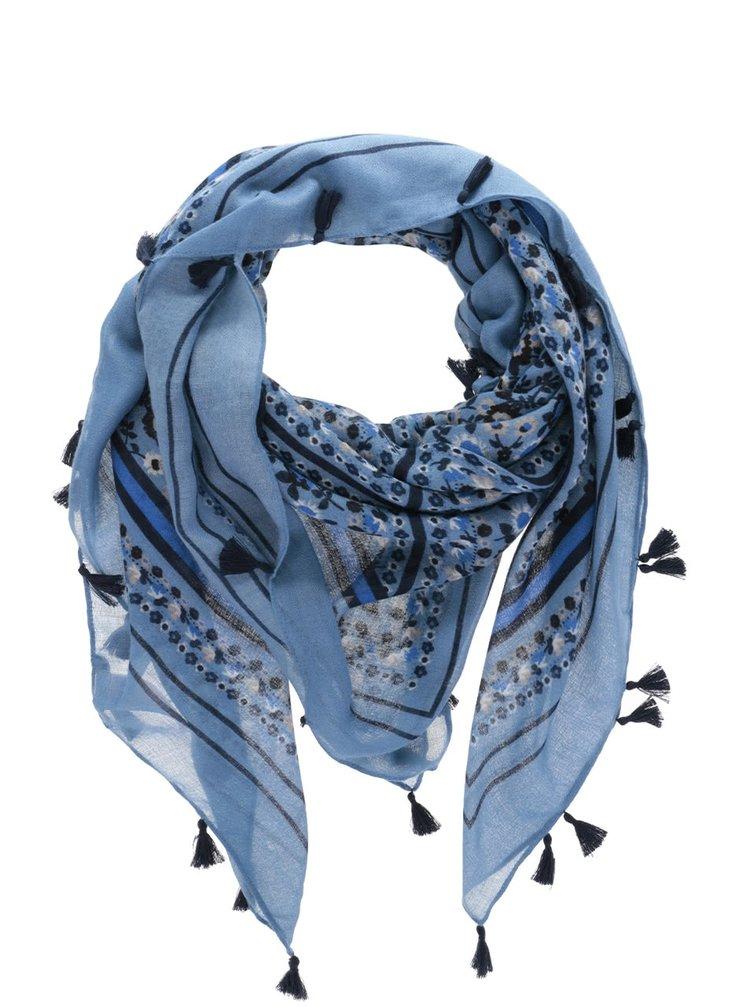 Modrý květovaný šátek Pieces Misja