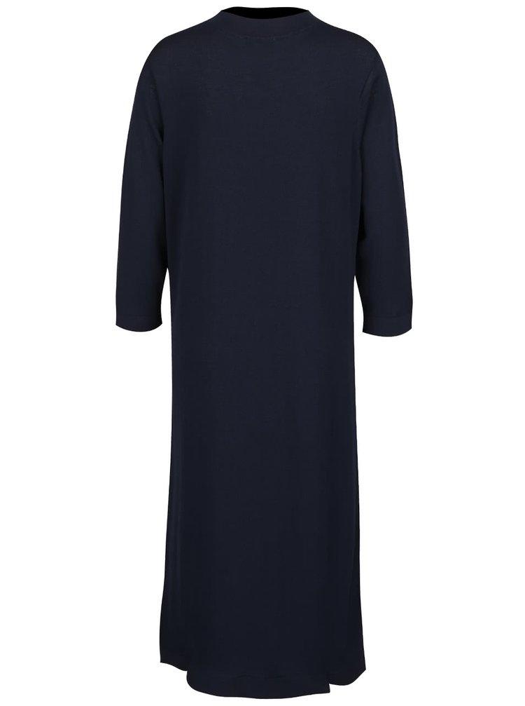 Tmavě modré šaty s 3/4 rukávy Selected Femme Alina