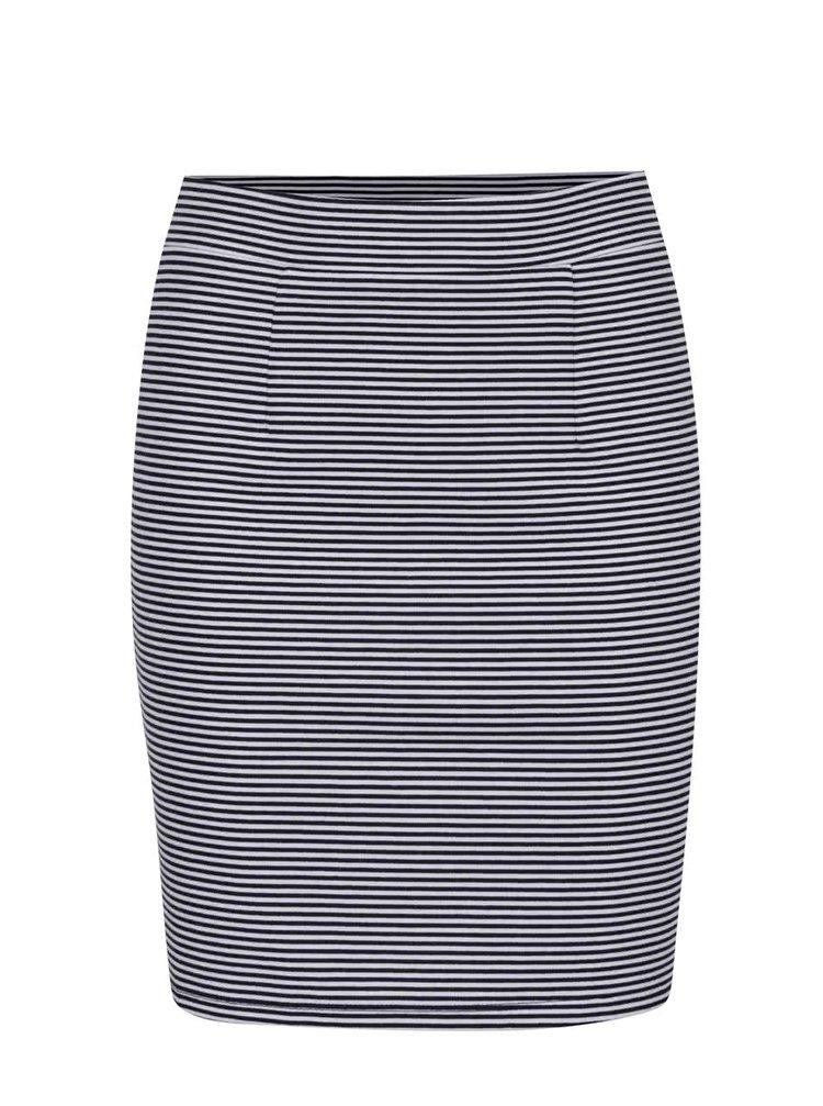 Modro-bílá pruhovaná sukně VILA Estea