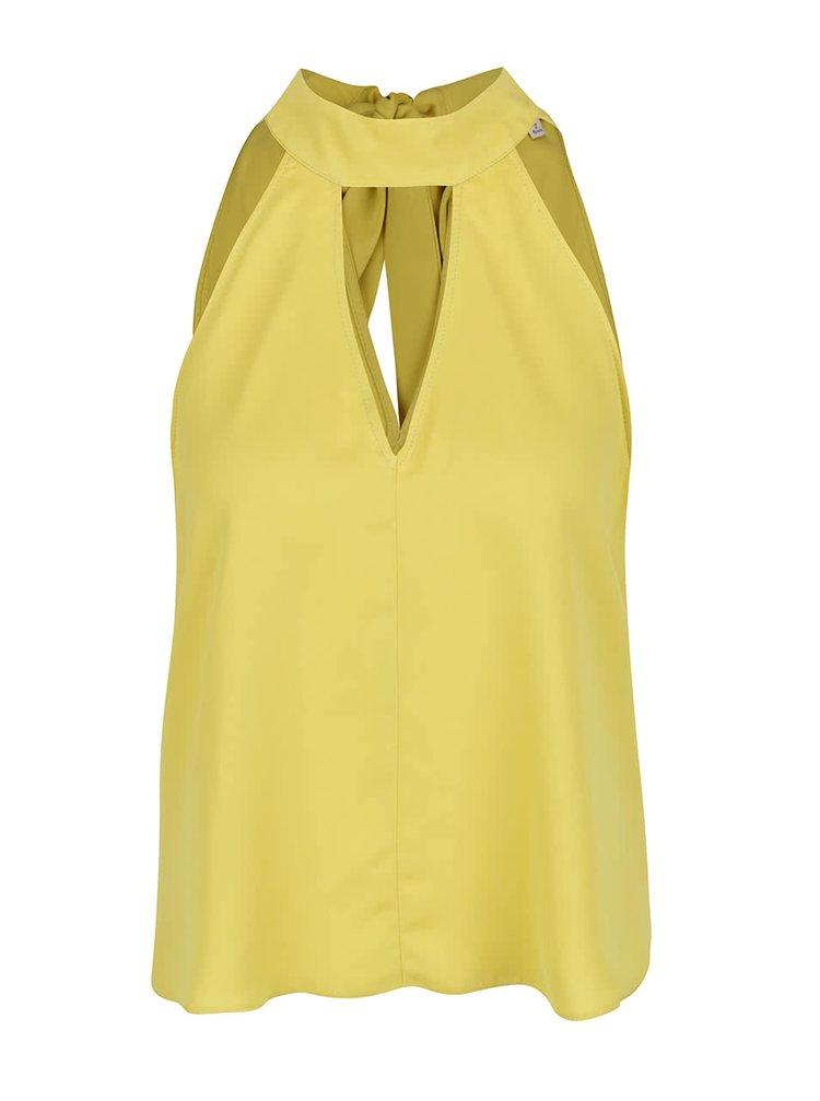 Žlutý top bez rukávů Miss Selfridge