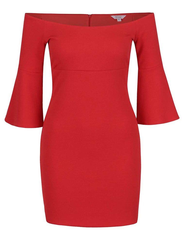 Rochie roșie Miss Selfridge Petites cu mâneci evazate