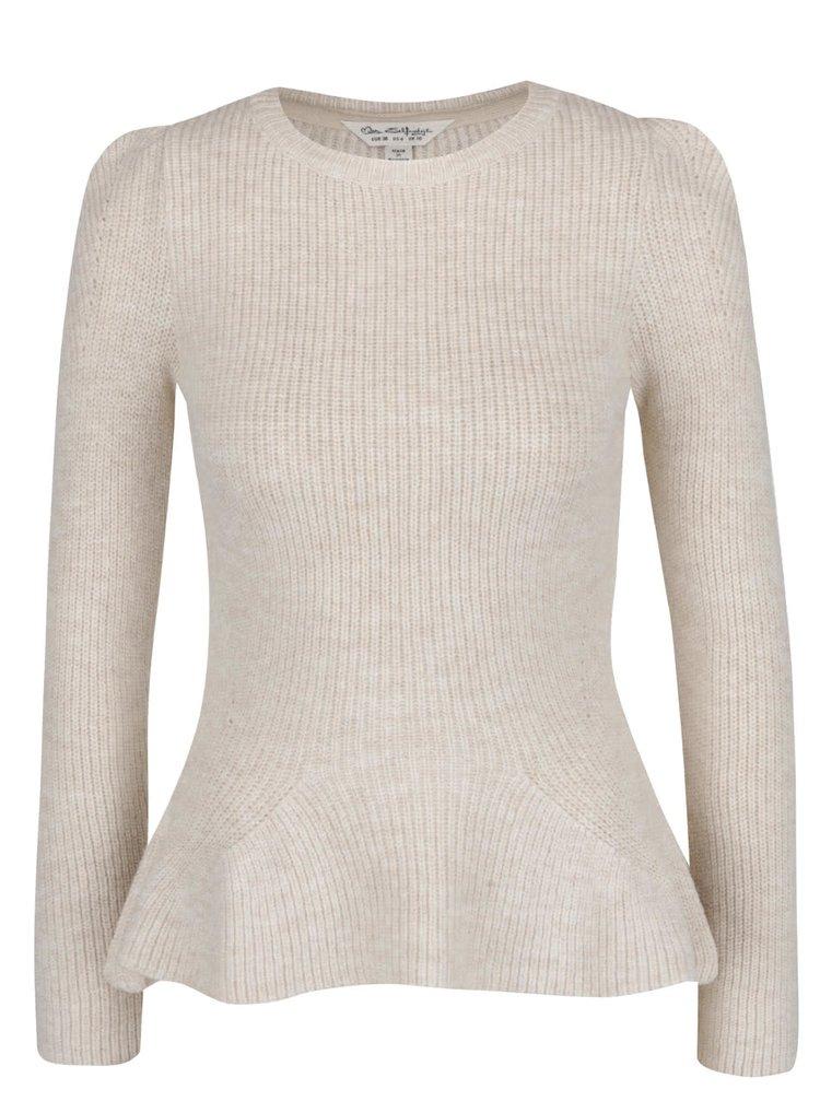 Béžový svetr s rozšířenou spodní částí Miss Selfridge