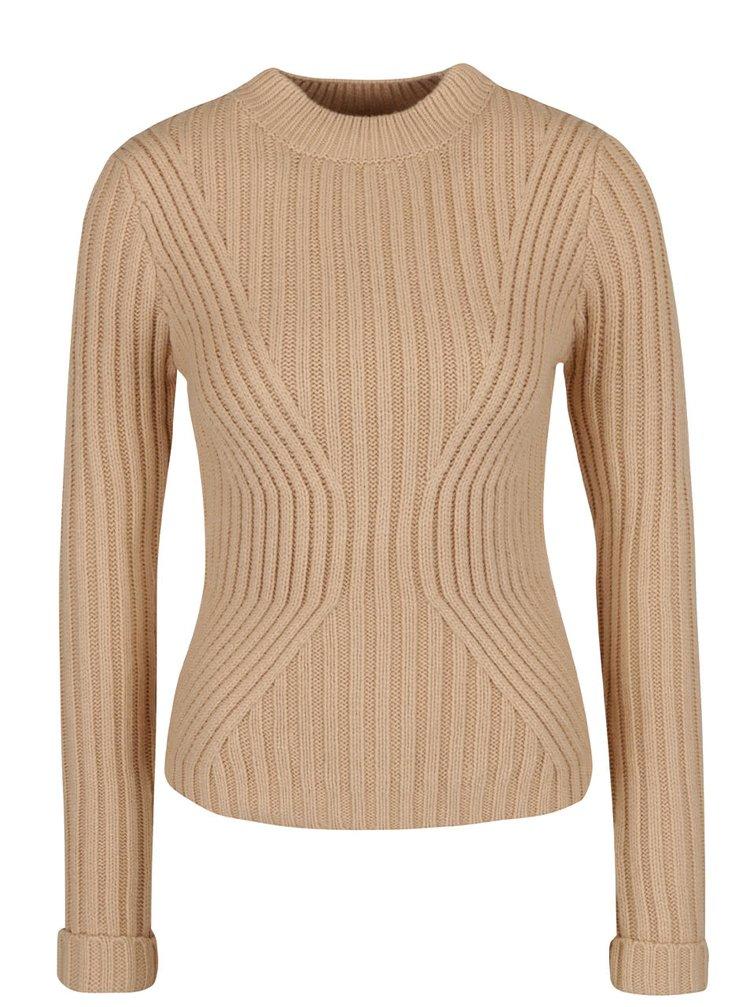 Béžový vzorovaný svetr Miss Selfridge