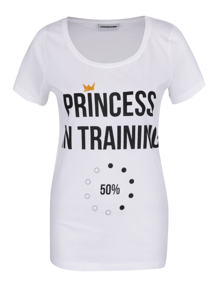Tricou alb Noisy May Axel Princess din bumbac cu print