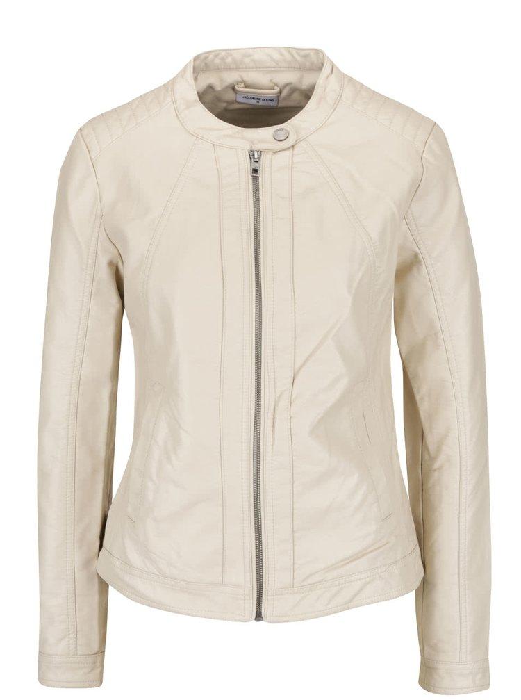 Jachetă crem Jacqueline de Yong Lesley din piele ecologică