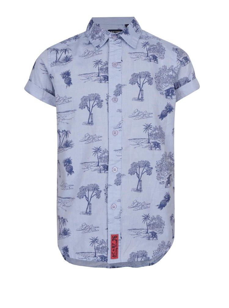 Modrá klučičí košile s havajským vzorem a krátkým rukávem Blue Seven