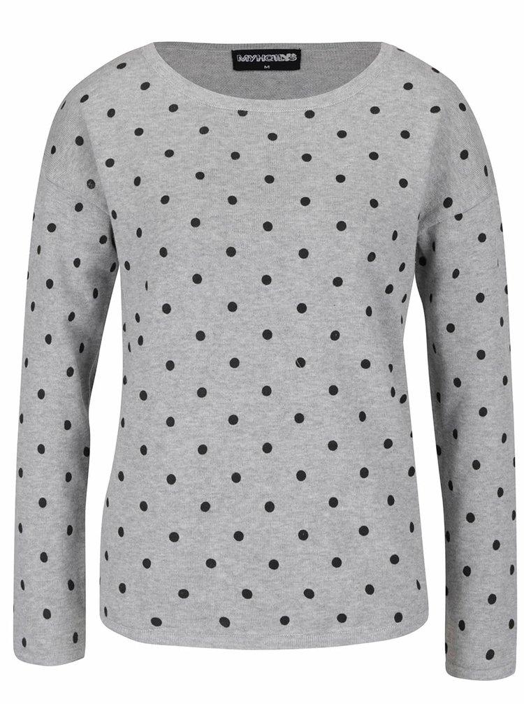 Šedý puntíkovaný svetr Haily´s Nellie