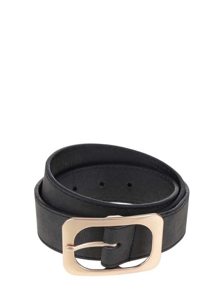 Černý pásek s přezkou ve zlaté barvě Haily´s Becky