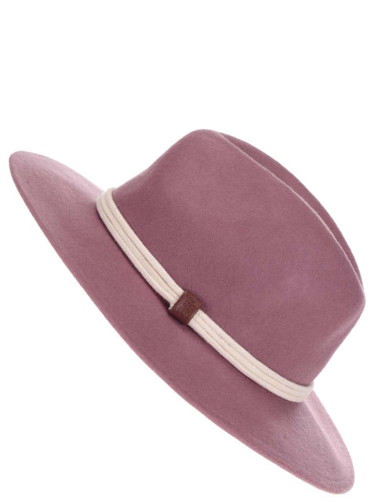 Růžový vlněný klobouk YAYA