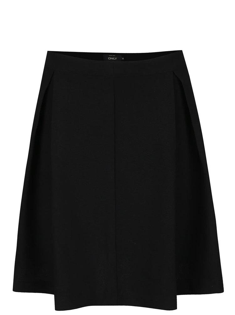 Černá skládaná sukně ONLY Muki