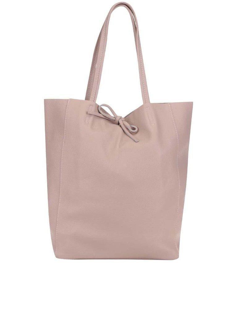 Geantă shopper roz prăfuit ZOOT din piele