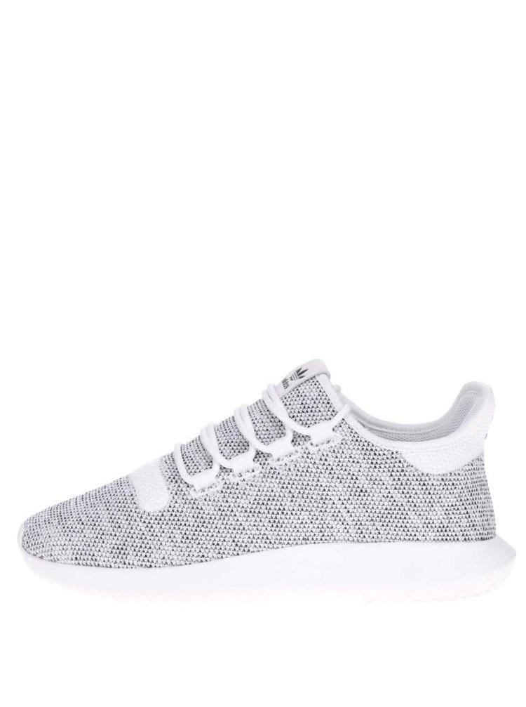 Šedo-bílé pánské žíhané tenisky adidas Originals Tubular Shadow