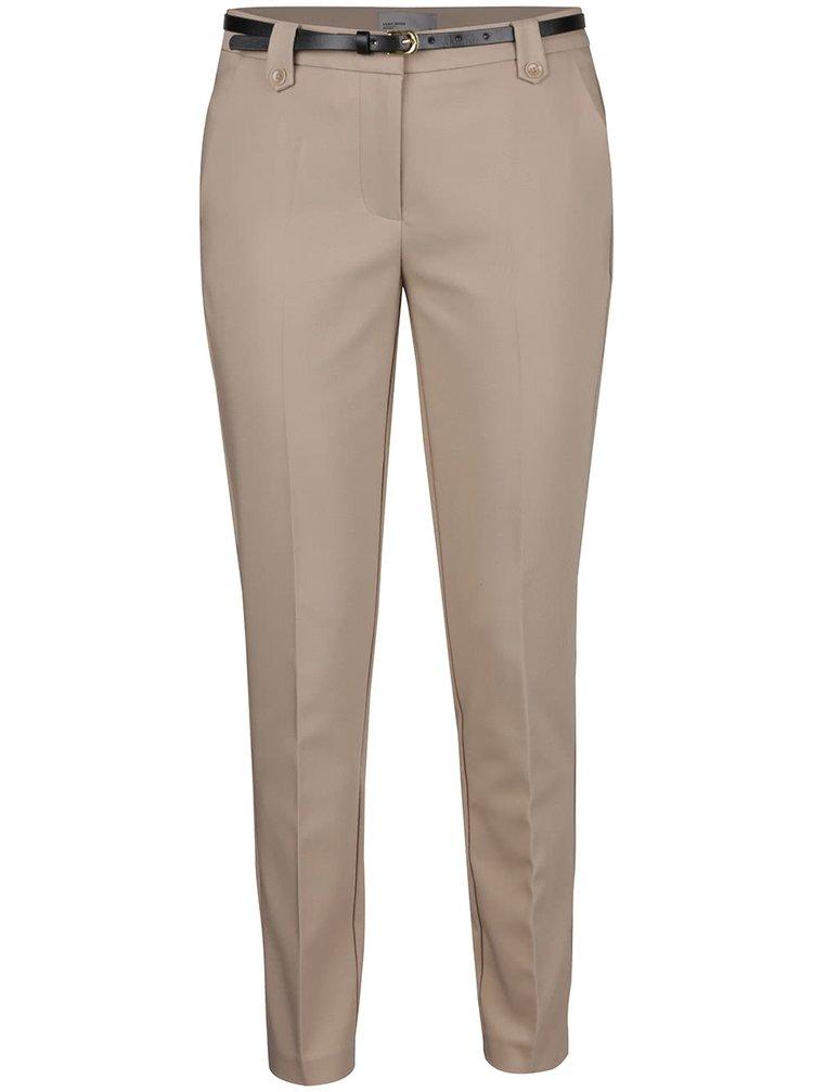 Béžové kalhoty VERO MODA New Roos