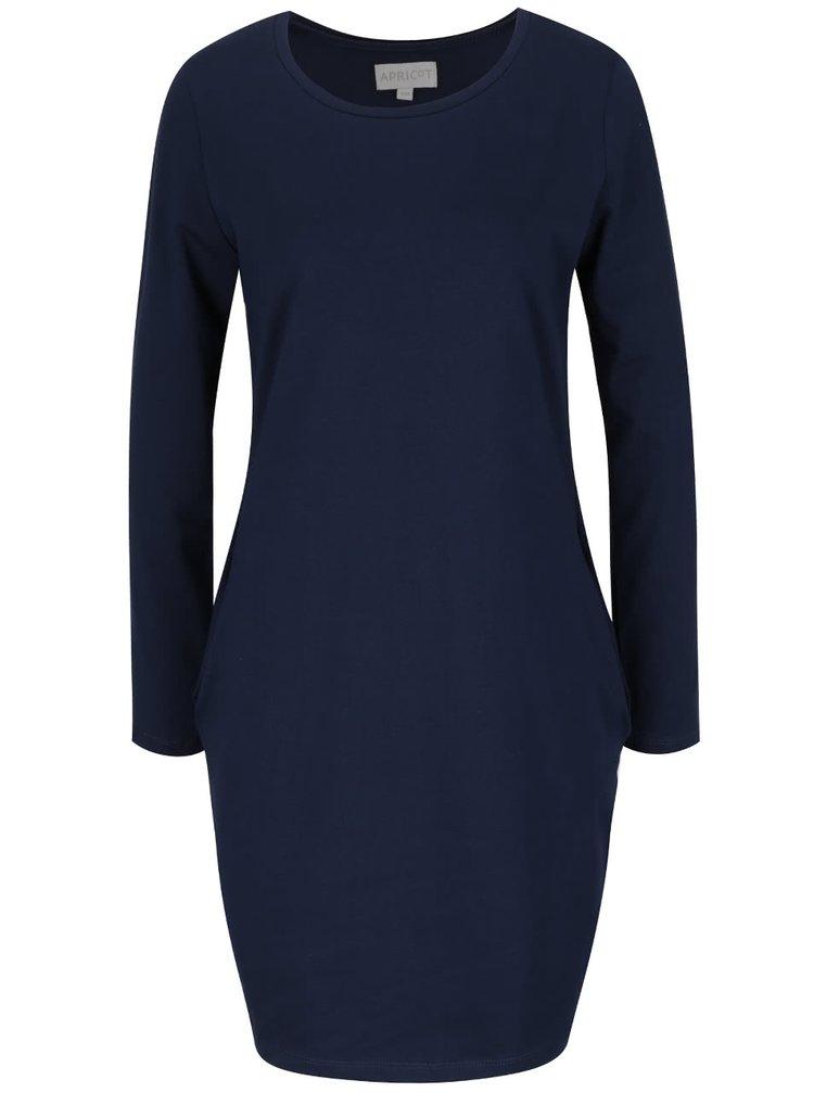 Tmavě modré šaty s dlouhým rukávem Apricot