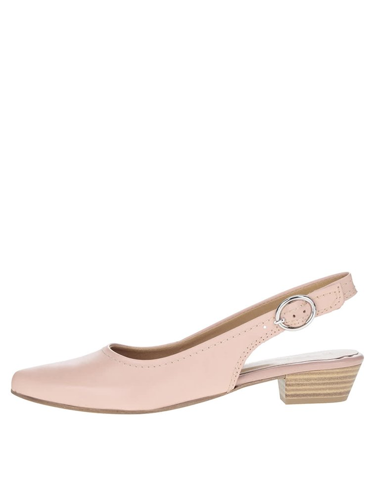 Pantofi slingback roz pal Tamaris