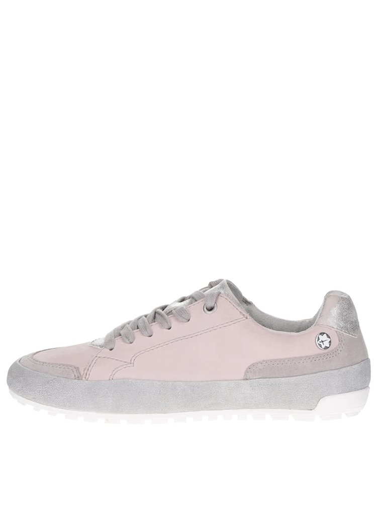 Pantofi sport Tamaris roz cu gri