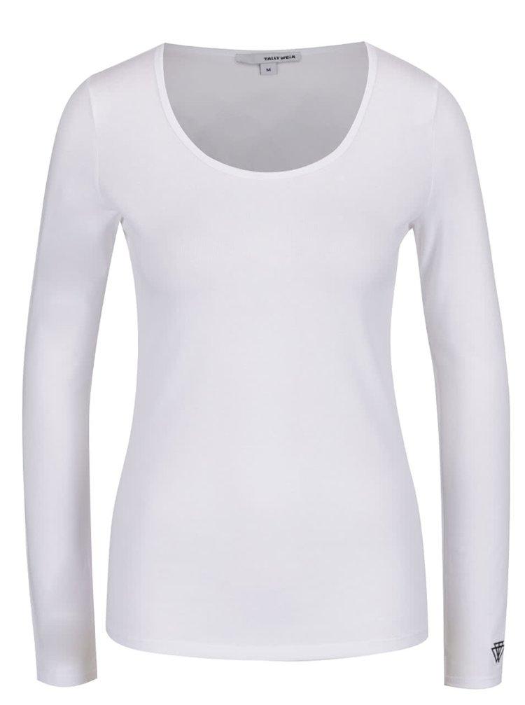 Tricou alb TALLY WEiJL cu mâneci lungi