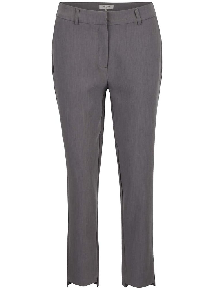 Sivé formálne nohavice Selected Femme Amila