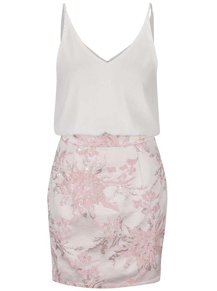 Rochie mini alb&roz Ax Paris cu aspect 2în1