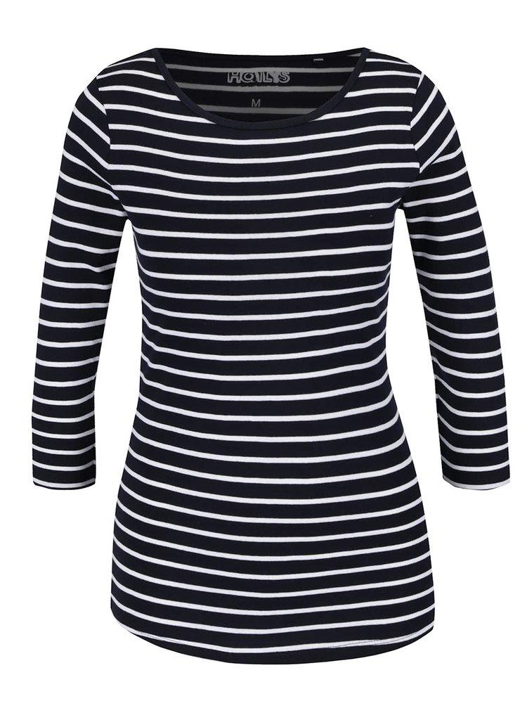 Bluză negru & alb Haily´s Zora din bumbac cu model în dungi