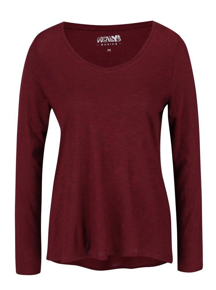 Bluză roșu bordeaux Haily's Janne cu decolteu en coeur