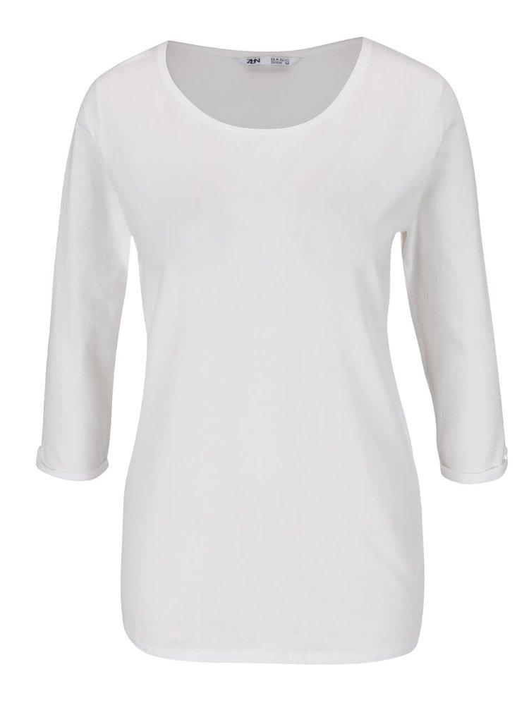 Krémové basic tričko s 3/4 rukávem Zabaione Anna
