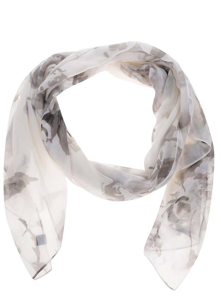 Šedo-krémový šátek s květovaným vzorem Tom Joule Wensley