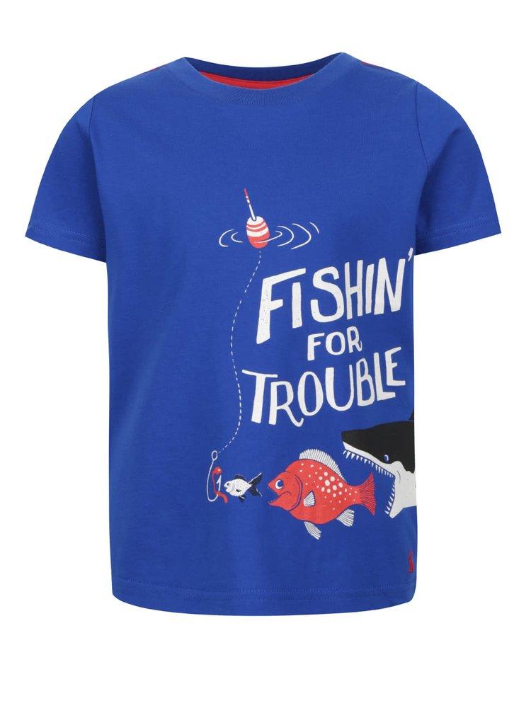 Tricou albastru Tom Joule cu print pentru băieți
