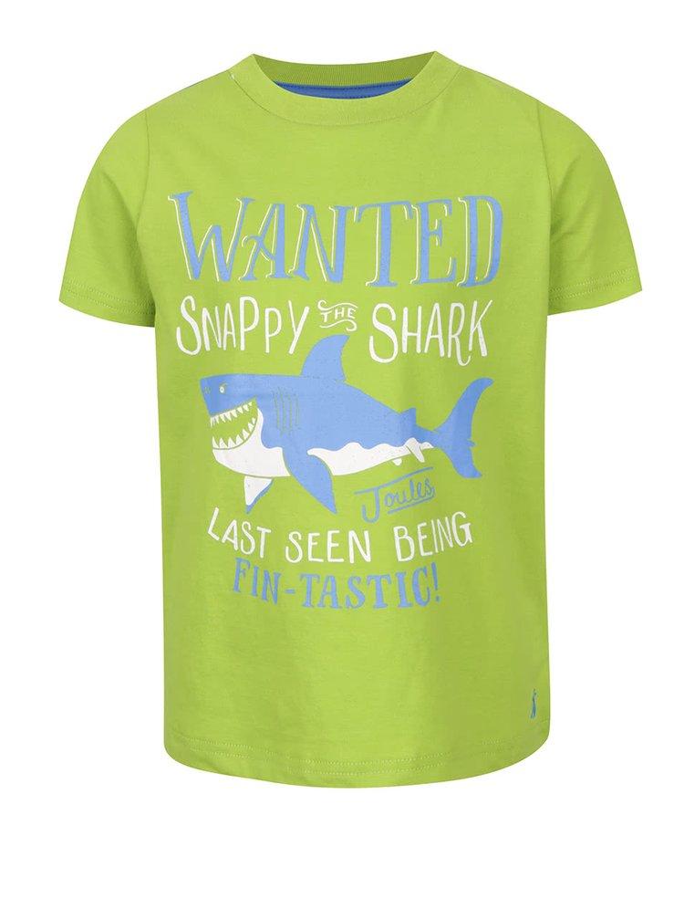 Tricou verde deschis Tom Joule cu print pentru băieți