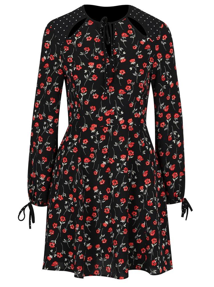 Rochie neagră Miss Selfridge cu imprimeu floral