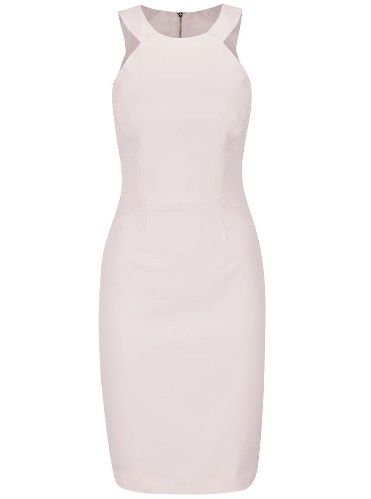 Světle růžové šaty French Connection Modern