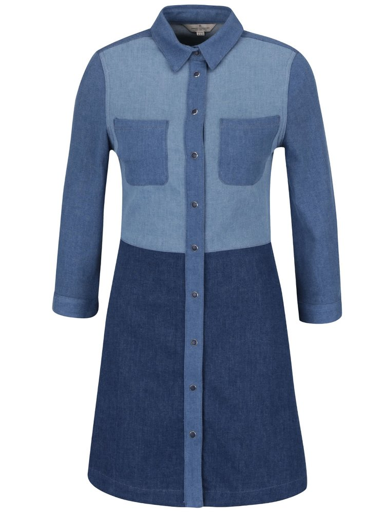 Modré džínové šaty French Connection Edie