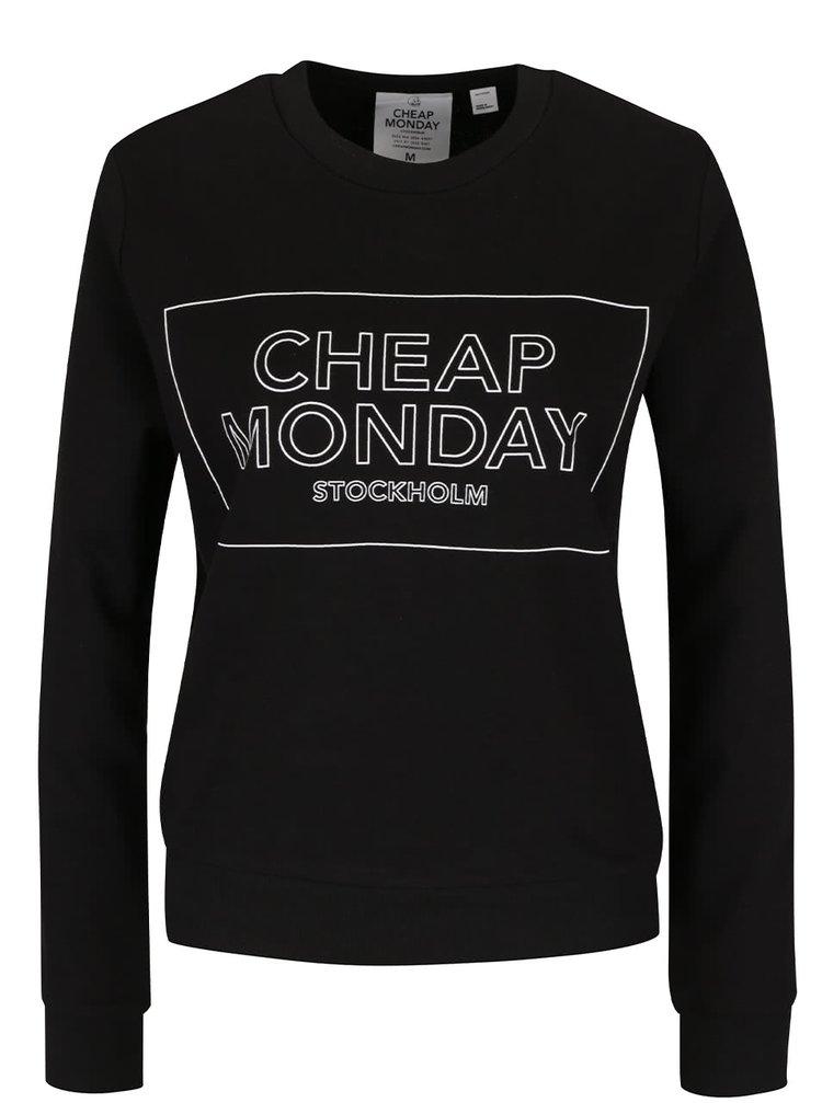 Černá dámská mikina s potiskem Cheap Monday