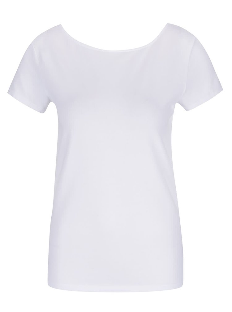 Bílé tričko s pásky na zádech ONLY Live